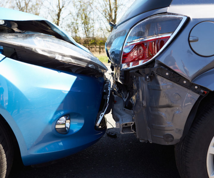 Two Cars Involved In Traffic Accident